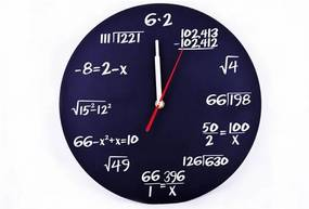 B2B Matematické hodiny, čierne