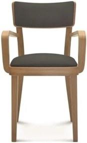 4083e639ca73 Drevená stolička s tmavosivým čalúnením Fameg Lone