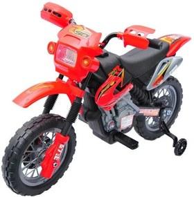 Dětská elektrická motorka Enduro, červená
