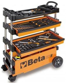 """Beta Tools Skladací vozík na náradie """"C27S-O"""", oranžový, oceľ, 027000201"""