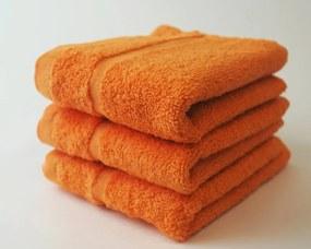 Dobrý Textil Malý uterák Economy 30x50 - Oranžová | 30 x 50 cm