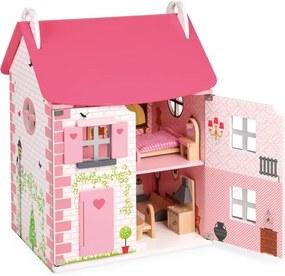 Janod Drevený domček pre bábiky - 11 ks nábytku