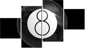 Tlačený obraz Čierna biliardová guľa 160x90cm 1742A_4Q