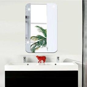 Zrkadlová adhezívna samolepka Ambiance Rectangle, 42 × 27 cm