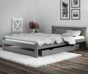 AMI nábytok Posteľ borovica Eureka VitBed 140x200cm masív šedá