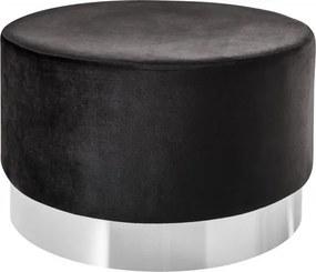 Taburet Modern Barock 55cm čierna
