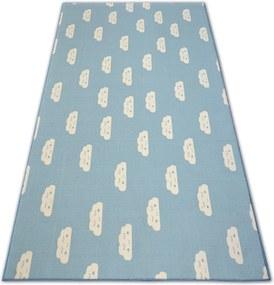 3kraft Detský koberec CLOUDS modrý