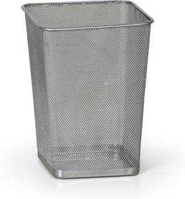 Drôtený odpadkový kôš na papiere, 12 L, strieborný