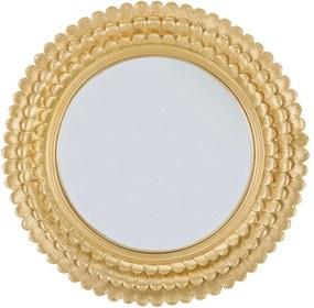 Nástenné zrkadlo v železnom ráme Mauro Ferretti Glam Lamin, ⌀ 43 cm