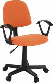 Kancelárska stolička, oranžová/čierna, TAMSON