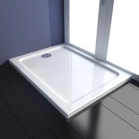 vidaXL Obdĺžniková ABS sprchová vanička, 80 x 100 cm
