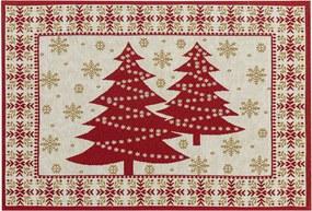 BO-MA Trading Vánoční prostírání Stromky, 32 x 48 cm