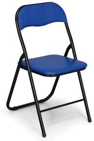 Skladacia konferenčná stolička BRIEFING 4+2 ZADARMO, modrá