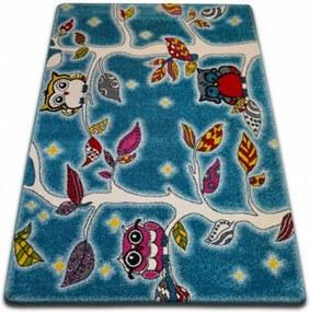 Detský kusový koberec Na strome modrý, Velikosti 140x190cm