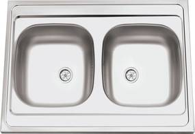 Sinks nerezový drez CLP-A 800 DUO M matný