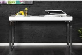 PC/Toaletný - stolík 16714 120cm Biely vysoký lesk-Komfort-nábytok
