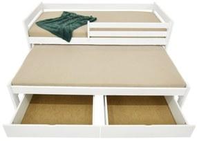 FA Detská posteľ Veronika 7 (200x90 cm) s prístelkou - viac farieb Farba: Prírodná
