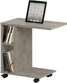 Príručný stolík, svetlý betón, NIDEN