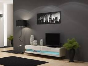 Vigo - TV komoda 180 otvorená (dub sonoma/biela lesk