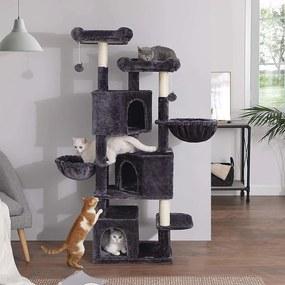 FEANDREA Mačací strom škrabadlo 164 cm šedý