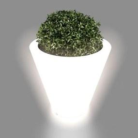 MONUMO Kvetináč Ovo s osvetlením biely