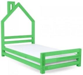 WALLY detská posteľ, Veľkosť 120 x 200 cm, Farba pastelová zelená