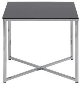 Cross 50x50 príručný stolík čierna/chróm