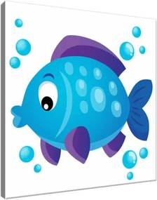 Obraz na plátne Modrá rybka 30x30cm 3093A_1AI