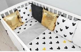 Baby Nellys Vankúšikový mantinel s obliečkami shine - Mickey, žlutá Baby Nellys 100496