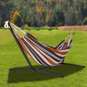 Relaxačné HAMAKA AVENBERG BELINDA - hnedá-čierna-šedá-biela