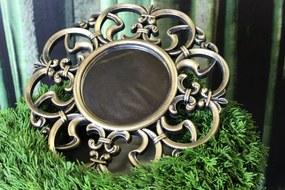 Zlaté zrkadlo s čiernou patinou