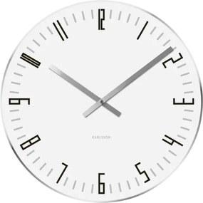 KARLSSON Nástenné hodiny Slim Index L biele