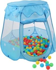 Kiduku Detský hrací stan s loptičkami modrý