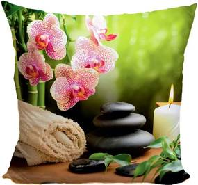 Vankúš Kvety s kameňmi (Veľkosť: 55 x 55 cm)