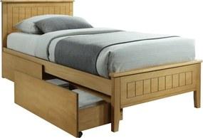 TEMPO KONDELA Midea jednolôžková posteľ s roštom dub