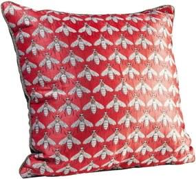 Červený vankúš Kare Design Bee, 45 × 45 cm