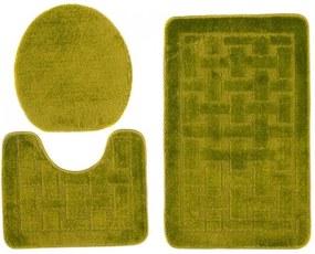 Kúpeľňové predložky 1039 zelené 3Ks, Velikosti 50x80cm