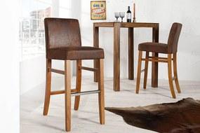 Barová stolička Clemente Vintage Look-hnedá - Skladom na SK - SB