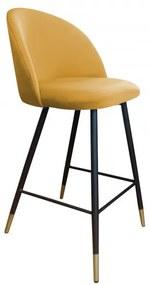 Barová jedálenská čalúnená stolička Frozen - 09 Tmavě zelená