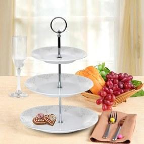 Banquet Stojan na cukrovinky porcelánový BAROCCO 3 poschodový