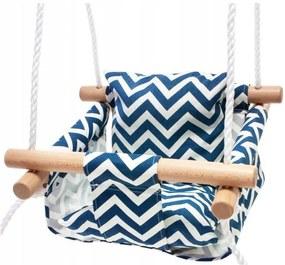 Bestent Detská drevená hojdačka Blue/White CikCak