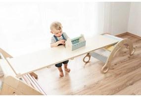 Montessori Piklerovej triangel set 2020 varianta: všetko lakované bezfarebným lakom