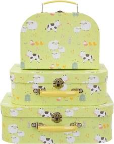 Kartónový kufrík Zvieratká z farmy - malý
