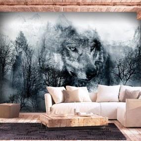 Fototapeta - Mountain Predator (Black and White) 400x280