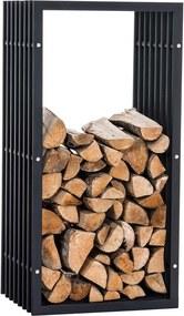 Stojan na palivové drevo Irving V3 40x50x100, matný kov
