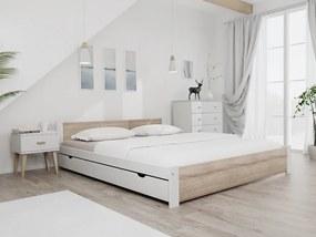 Posteľ IKAROS 180 x 200 cm, biela Rošt: Bez roštu, Matrac: Matrac DELUXE 15 cm