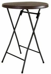 Garthen 43772 Zahradní barový stolek kulatý - ratanová optika 110 cm - hnědý