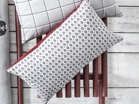 TODAY Mountain dekorační polštářek 30x50 cm šedá/červená