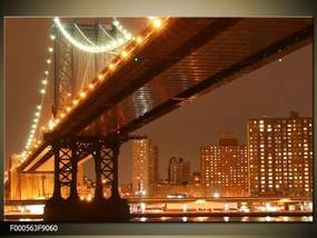 Obraz na plátne Nočný most, Štvorec 50x50cm 33.68 €