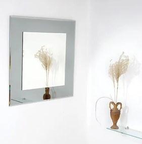 Zrkadlo s fazetou Amirro Tomáš 60x60 cm šedá 701-039